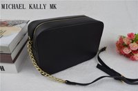 Wholesale Cross Body Small Handbag - 2017 fashion women famous MICHAEL KALLY MK handbag PU leather cross pattern square bags one shoulder messenger bag crossbody chain purse