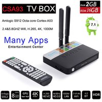Wholesale wifi game player resale online - Amlogic S912 Octa Core Smart TV Box Android GB GB Bluetooth G G Wifi K H Media Player Airplay PS4 Xbox Game CSA93
