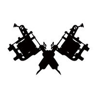 Wholesale machine gun cartoon - New Style For Tattoo Gun Machine Car Styling Truck Decal Vinyl Sticker Jdm Car Window Accessories Graphics Decor