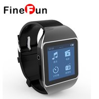 Großhandel- FineFun neue ultradünne Touchscreen Bluetooth Smart Watch mp3 Spieler Sport läuft verlustfreie mp3 Spieler 4GB Speicherkapazität