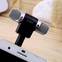 Wholesale Mobile Digital Recorder - New Arrival Portable Mini Mic Digital Stereo Microphone for Recorder PC Mobile Phone 3.5mm mic recorder for iphone android smartphone