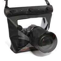 Wholesale Tteoobl Bags - Free Shipping Tteoobl T-518 20M Underwater Diving Waterproof Case DSLR SLR for Canon 6D 600D 650D Nikon D7100 D5200 D5100 D3200