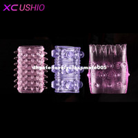 Wholesale Cheap Cock Rings - 3 in 1 adjustable silicone cock ring penis sleeve ultra cheap sex toy head to penis sex products cockring for men