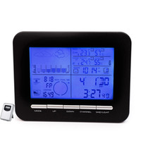 Led-wetterstation Wecker Kaufen -ual Wecker Digital Tisch Dual Wecker Barometer Wetterstation w / Indoor Thermometer Hygrometer Wireless Außentemperatur ...