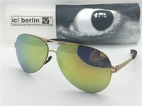Wholesale Detachable Sunglasses - Germany designer brand sunglasses IC model christian s. Ral ultra-light without screw memory alloy glasses detachable frame coated lenses