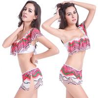 Wholesale Transparent Strapped Bikini - Transparent Stretch Mesh Layer Flounced Top with Adjustable shoulder strap Removable Push up Lycra Bikini XXL