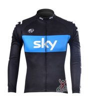 Wholesale Chinese Style Jackets Women - 2017 sky team professional bicycle wear autumn long-sleeved bike jacket chinese-cheap-clothes spring style men cycling jersey C0219