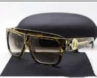 Wholesale Tyga Fashion - new fashion UV 400 Original box Protection Italy Brand Designer Gold Chain Tyga Medusa Sunglasses Men Women Sun glasses cc