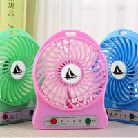 Wholesale Strong Cool Usb - 2017 NEW USB palm-leaf fan internal battery usb charger handheld and desk fan Three strong winds give you cool in summer