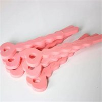 Wholesale bendy hair rollers shipping for sale - Group buy DIY Pink Sponge Hair Soft Curler Roller Strip Curl Magic crimper Tool Twist