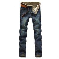 Wholesale Denim Vaqueros - Wholesale-2015 new true brand jeans men famous Plus size 46 macacao masculino pantalones vaqueros hombre denim pants mens MYA0127
