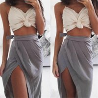Wholesale Basic Crop Tank Top - Wholesale- Summer Sexy Solid Women Tops Slim Basic Short Limitation Silk Tank Tops Casual Camis Vest Crop Top A1