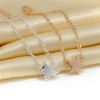 Wholesale Couples Jewelry Pc - 2 pcs Europe Style Star Pendant Charm Chain Bracelet Couple Bracelets Jewelry Friendship Gifts to Friends Lover free shipping