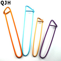 Wholesale Locking Stitch Markers Clips - 4pcs 2size Multi-color Aluminum Marker Stitch Holder Needle Clip Craft Knitting Crochet Locking Weaving Sewing Tools