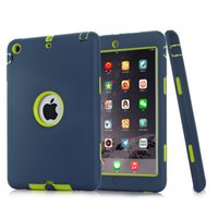Für iPad mini 1/2/3 Retina 3 in 1 Hybrid Armor Shockproof Heavy Duty Silikon Hard Case Cover Display Schutzfolie + Stylus Pen