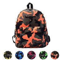 Wholesale good baby child - Wholesale- Indira 2016 New Fashion Children School Bag Rivets Camouflage Backpack Cute Baby Toddler Good Quality Freeshipping & Wholesale