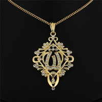 Wholesale Arab Gold Pendant - Middle East trade Arab Muslim Islamic ancient Gold Pendant Necklace with high-grade imitation gold jewelry