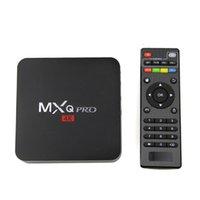 Wholesale Uk Sd - New Android TV Box MXQ Pro Android 5.1 Box 4K Quad Core 8G 1G Amlogic RK3229 Smart TV Box Suport WIFI 3D SD
