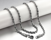 Wholesale Stainless Steel Twist Chain - 2018 Twist chain Couples Necklace Titanium steel allergy Stainless Steel chains for Men Jewelry Accessories Punk Style #290