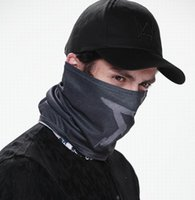 Wholesale Wholesale Hats Watch - Wholesale- Watch Dogs Aiden Pearce MASK Cap Cotton Hat Set Costume Cosplay Hat Mens 6 Panel Tactique Baseball Caps
