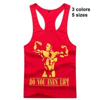 Großhandels- Neue Männer Golds Bodybuilding Tight Stringer-Shirt Ankunft Fitness Weste Y-Back Singlet Muscle Tank Top