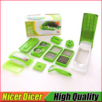 12 PCS / Set Nicer Dicer Plus Fruits végétaux Multi Grater Peeler Cutter Chopper Slicers One Step Precision Cutting Kitchen Outils de cuisine