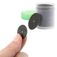 Wholesale Cut Tube Tools - Wholesale- Hot Black 36 Discs Dremel Rotary Tool Cut Off Wheels Disc 24mm Reinforced with 1 Tube for Dremel Rotary Tools