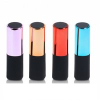 Wholesale Portable Lipstick Backup Usb Charger - 2600 mah Power Banks Lipstick Powerbank Mobile Charger Mini USB Portable Charger Backup Battery Charger For iPhone HTC Samsung Smartphone