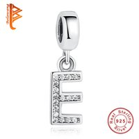 BELAWANG Europea 925 Sterling Silver Alphabet Charms Letra