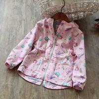 Wholesale Korea Fashion Jacket Winter - Everweekend Kids Girls Pink Cute Animals Zipper Outwears Jackets Western Fashion Vintage Korea Children Coats