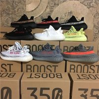 Wholesale core orange - New 350 Boost Beluga 2.0 Grey Bold Orange SPLY Boost 350 V2 Zebra Cream White Core Black Kanye West Running Shoes
