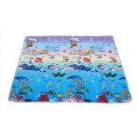 Wholesale Cartoons Letter Pad - Wholesale- 180*150cm Outdoor camping Climb picnic mat Moisture game pad Children's soft crawling rugs play puzzle number letter cartoon mat