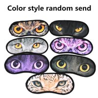 Cute Animal Sleeping Eye Mask Blindfold Masque de sommeil Aide Travel Covers Eye Shades Eyepatch oeil pour dormir