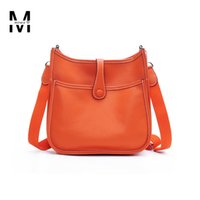Wholesale Designer Bag Leather Satchel - Wholesale-H Women's Hollow Out Punch Messenger Bags Classic Famous Brand Designer Genuine Leather Handbags Female Casual Crossbody Bags