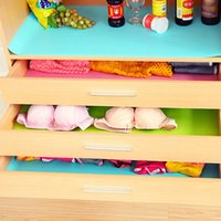 Wholesale Furniture Chests - Wholesale- Kitchen Accessories Dampproof Cushion Anti Oil Antislip Chest Wardrobe Drawer Mat Pad Shelf Liner For Cabinet Ambry Furniture
