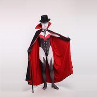 черный мешок спандекса оптовых-Хэллоуин сексуальные взрослые дети размер красный и черный лайкра Зентаи боди для женщин