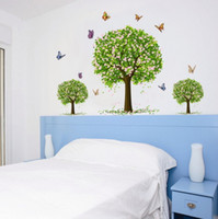 Wholesale new wallpaper tree resale online - Halloween Christmas Removable Tree Wall Stickers Wallpaper Children Kid Room Cute Large Decoration Adhesive Child Bedroom Tree