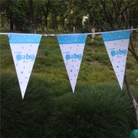 Banderas de papel de decoración de fiesta de 2,5M Party Banderas de tema de dibujos animados de Baby Shower Pennats Kids Favors Happy Birthday Supplies