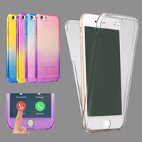 Wholesale Color For Body - Ultra Thin 2in1 color 360 ful Soft TPU Front Case + Shockproof Back Case 360 Degree Full body Protect Cover for Iphone 6 6s plus 7 7plus