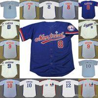 Wholesale Andre Dawson Jersey Expos - Montreal Expos 8 GARY CARTER 9 MARQUIS GRISSOM 10 ANDRE DAWSON TOM BRADY JOHN BOCCABELLA RUSTY STAUB RON LeFLORE Throwback Baseball Jersey
