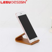 Wholesale Wooden Mobile Phone Holders - Wood Mobile Phone Holder satnd for iPhone 7 6 6S Plus 5 5S Wooden Desk Stand for Samsung Glalaxy S8 S7 S6 Edge