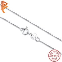 Wholesale Wholesale Fashion 925 Sterling Silver - BELAWANG 2017 New Fashion Necklace Box Chain Men Women Jewelry 925 Sterling Silver Chains For Wonen Pendant Necklace Making Wholesale Gift