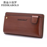 Wholesale Leather Clutch Checkbook Holder Wallet - NEW 2015 POLO Men Leather Business Wrist Clutch Bag Handbag Wallet Organizer Vintage Brown Checkbook Wallet Phone Wallets 906