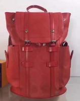 Wholesale Men Genuine Leather Backpack - 2017 summer new arrival Fashion leather backpack school bag unisex backpack student bag men travel STARK BACKPACK.