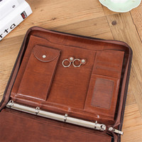 Wholesale Function Art - High Quality PU Leather A4 Multi Function Office Folder Creative Bag Shape Can Store Keys And Files Direct Factory Price Hot Sale