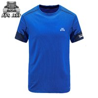 Wholesale Men Short Sleeves - AFS JEEP Summer New Casual Men's Short Sleeves Quick-drying Men T Shirts Thin Mens Tshirt Casual Fashion T-shirt Men's All Match