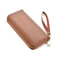 Wholesale Japan Ladies Leather Bags - Simple Lady Wallets Holders PU leather Plain Simple Zipper Clutch Bag Fresh Credit Card Package Multi-bit Fashion Coin Purse VKP1432