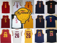 patches de la marine achat en gros de-2017 Final Patch 0 Kevin Love Jersey Hommes Pour Sport Fans 5 Jr Smith 26 Kyle Korver Maillots de Basketball Team Couleur Bleu Marine Rouge Blanc Jaune