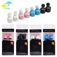 Wholesale Mixed Voice - Wireless Sport mini Bluetooth Earphone X1T i7 Twins True stereo two-channel Earphsets CSR With Voice Prompt for iphone 6 7 plus note7 s7edge