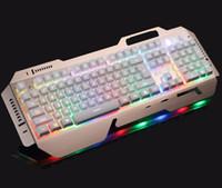 Wholesale Luminous Backlit Keyboard - JS Family Luminous backlit mechanical gaming feel wired Internet cafes desktop laptop keyboard